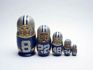 Dallas Cowboys nesting dolls