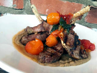 Lamb dish at Victor Tangos restaurant in Dallas