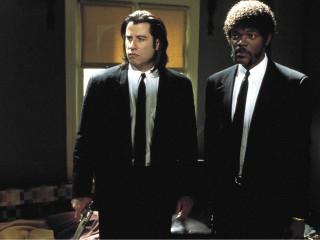 still of John Travolta and Samuel L. Jackson in Pulp Fiction by Quentin Tarantino