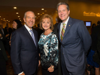 Jim and Becky Lozier with John Gibson