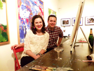 Hannah Bacol Busch Gallery presents Couples' Art Night, Painting and Wine