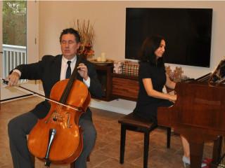 Marcelo Zigaran, cello and Tarana Taylor, piano