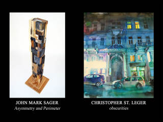 """Hooks-Epstein Galleries presents """"Asymmetry and Perimeter"""" and """"obscurities"""" opening reception"""
