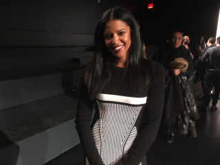 Renee Elise Goldsberry at Prabal Gurung runway show at New York Fashion Week
