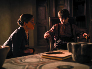 Emilia Clarke and Edward George Dring in Voice from the Stone