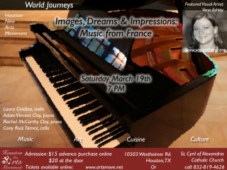 Houston New Arts Movement presents Images, Dreams, and Impressions: Music from France