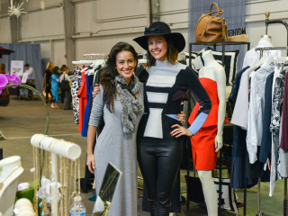 25 Maryam Afshari, left, and Carrie Colbert at the CultureMap Pop-Up Shop December 2014