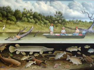 Fish Story 2 Nueces River by William Montgomery