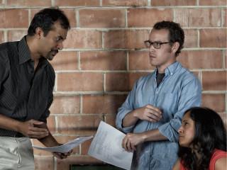 Actors Karthik Chandar, James Monaghan and Deeba Ashraf