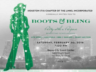 Houston (TX) Chapter of the Links, Inc. / Boots & Bling Party