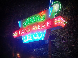 Austin - Guero's Taco Bar Sign Lit
