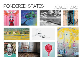 Pondered States art gallery collage of art at Gallery Black Lagoon