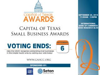 Capital of Texas Awards 2013 flyer