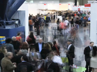 Texas Contemporary Art Fair, crowd, venue