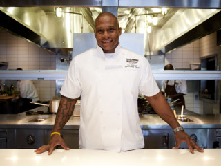 Executive chef Tre Wilcox of Village Marquee Texas Grill & Bar