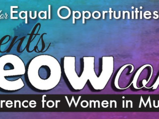 banner for MEOW conference women in music