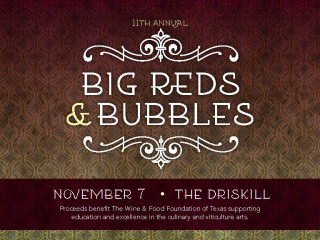 flyer for Big Reds and Bubbles 11th anniversary party