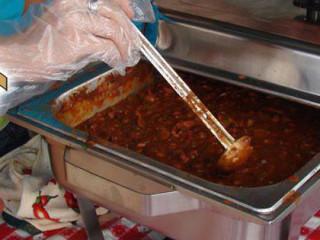 pot of chili at Lone Star Veggie Chili Cookoff Championship