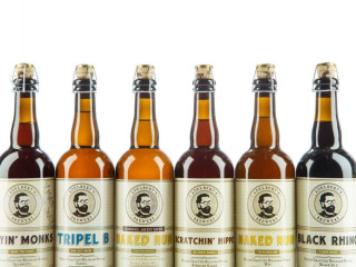 selection of bottled beer from Adelbert's Brewing in Austin