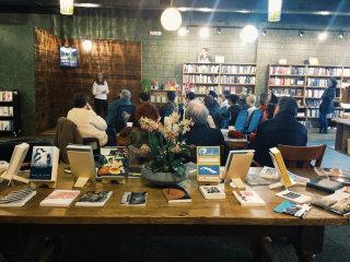 Group gather at Malvern Books