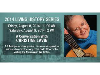 Sixth Floor Museum presents Christine Lavin