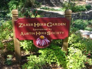 zilker herb garden sponsored by Austin Herb Society