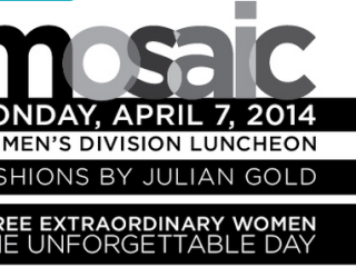 flyer for Mosaic Luncheon for Women's Division of the Jewish Foundation of Greater Austin