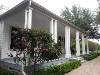 exterior of French Legation Museum with blooming flowers