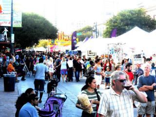 Pecan Street Festival revelers cropped