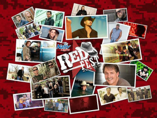 collage of performers for RedFest 2014 at Cota