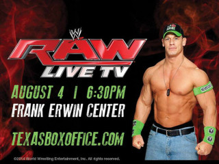 WWE Monday Night Raw Austin Frank Erwin Center august 2014