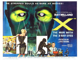 poster X: The Man with X-ray Eyes