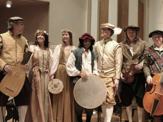 members of The Austin Troubadours in renaissance period costume