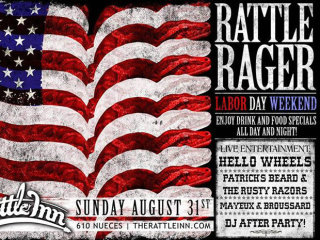 poster Rattle Rager labor day weekend at The Rattle Inn