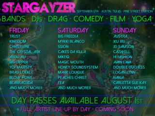 poster austin Stargayzer Festival at pine street station