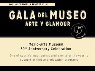 invite Gala del Museo for Mexic-Arte Museum