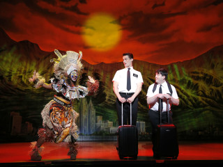Mark Evans and Christopher John O'Neill in The Book of Mormon