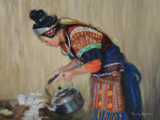 "Cloister Gallery art opening reception: ""China Minorities - American Perceptions"""