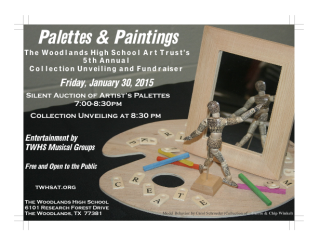 """2015 """"Palettes and Paintings"""" benefiting The Woodlands High School Art Trust"""