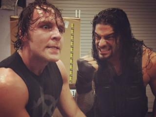 WWE Smackdown_wrestling_Dean Ambrose_Roman Reigns_2014