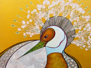 Jung Center art opening reception: Magic Birds by Tania Botelho