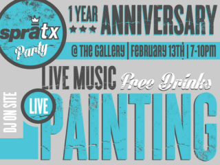 sprATX One Year Anniversary Party_poster CROPPED_2015