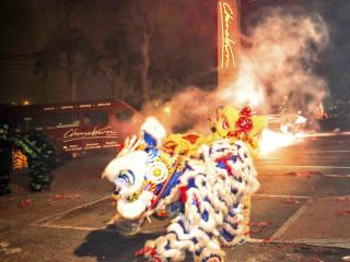 Chinatown_Chinese New Year celebration_dragon lion dance
