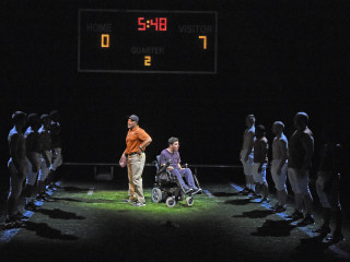 Hassan El-Amin and Zack Weinstein in Dallas Theater Center's Colossal
