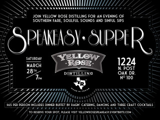Yellow Rose Distilling Speakeasy Supper