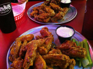 plate of chicken wings at Plucker's Wing Bar