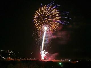 Lago Vista 4th of July Celebration fireworks over Lake Travis Bar-K Park 2012