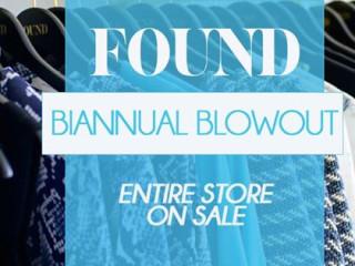 FOUND Bi-Annual Sale