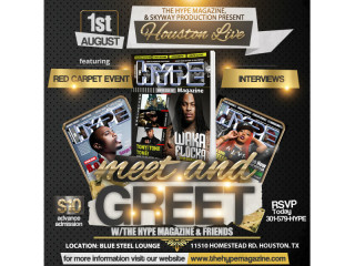 The Hype Magazine & Skyway Productions presents Meet & Greet Red Carpet Experience