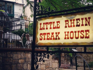 Little Rhein Steak House sign San Antonio restaurant